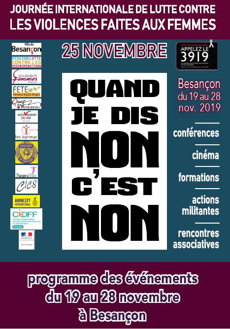 Journée Internationale pour l'élimination de la violence à l'égard des femmes – 25 Novembre 2019